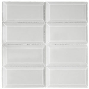 Beveled Smoke Glass Subway Tile