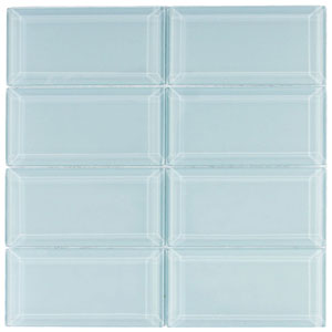 Beveled Vapor Glass Subway Tile
