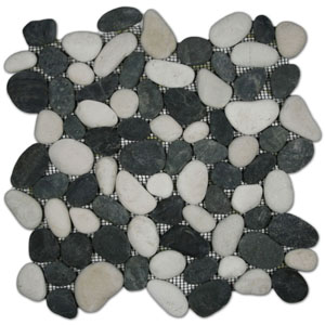 Black and White Pebble Tile