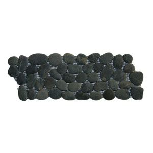 Charcoal Black Pebble Tile Border