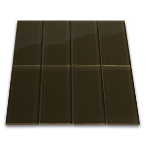 Chocolate Glass Subway Tile