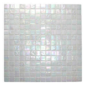 Cloud White Glimmer Glass Tile