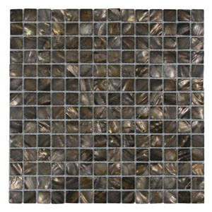 Coffee Pearl Shell Tile