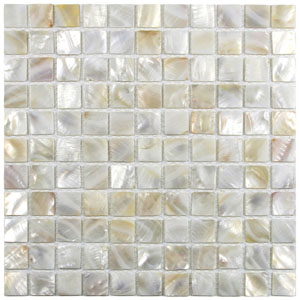 "Cream 1"" x 1"" Pearl Shell Tile"
