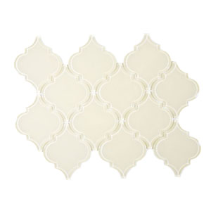 Cream Arabesque Glass Tile