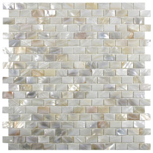 Cream Brick Pearl Shell Tile