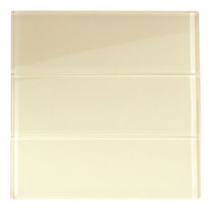 "Cream Glass 4"" x 12"" Subway Tile"