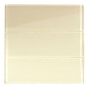 "Cream Glass 4"" x 12"" Subway Tile"