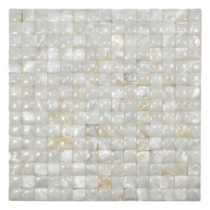 Cream Convex Pearl Tile