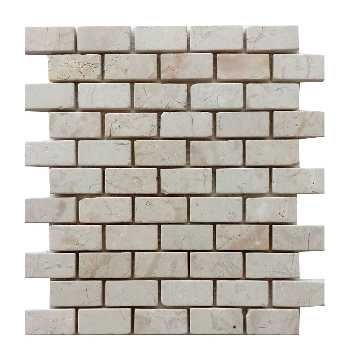 Cream Mini Stone Subway Tile