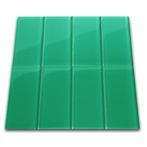 Emerald Glass Subway Tile