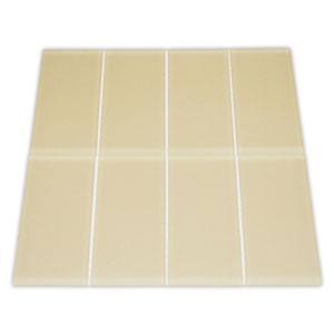 Frosted Khaki Glass Subway Tile