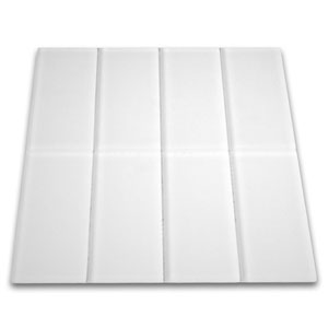 Frosted White Glass Subway Tile