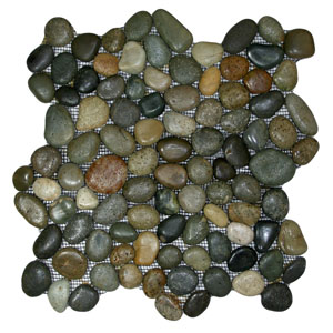 Glazed Bali Ocean Pebble Tile