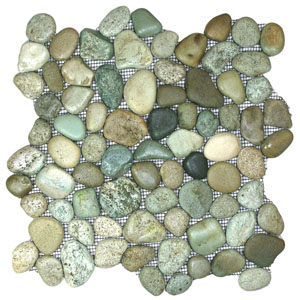 Glazed Sea Green Pebble Tile