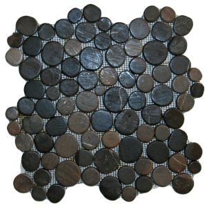 Glazed Grey Moon Mosaic Tile