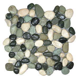 Glazed Bali Turtle Pebble Tile