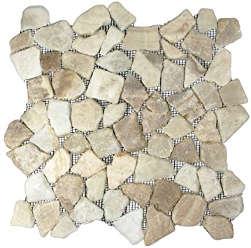 Glazed Mixed Quartz Mosaic Tile