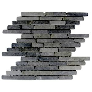 Grey Pencil Stone Mosaic Tile