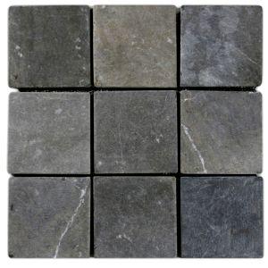 "Grey 4"" x 4"" Stone Mosaic Tile"