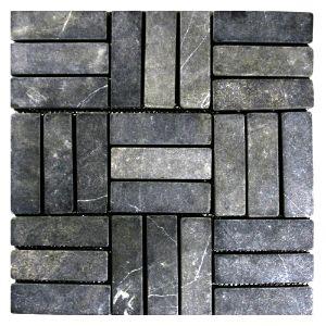Grey Weave Stone Mosaic Tile