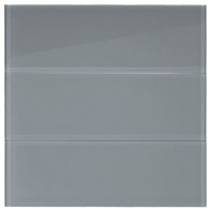 "Ice Gray Glass 4"" x 12"" Subway Tile"