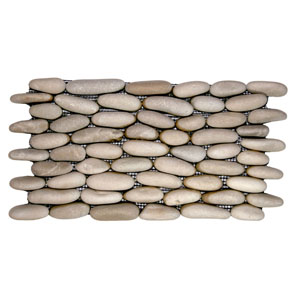 Java Tan Standing Pebble Tile
