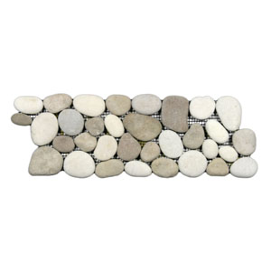 Java Tan and White Pebble Tile Border
