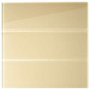 "Khaki Glass 4"" x 12"" Subway Tile"