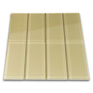 Khaki Glass Subway Tile