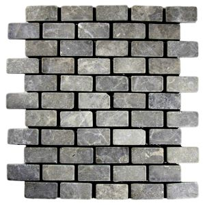 Light Grey Mini Stone Subway Tile