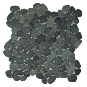 Charcoal Black Pebble Tile