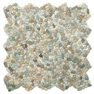 Mini Sea Green Pebble Tile