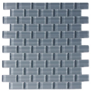 Ocean 1x2 Mini Glass Subway Tile