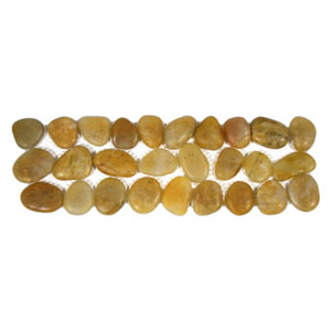 Polished Amber Pebble Tile Border