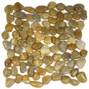 Polished Amber Pebble Tile