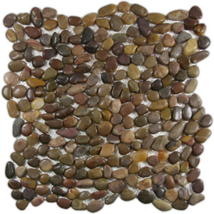 Mini Polished Red Pebble Tile