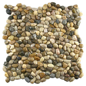 Mini Polished Cobblestone Pebble Tile