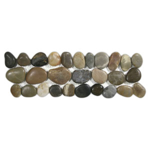 Polished Cobblestone Pebble Tile Border