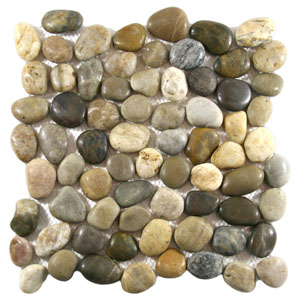 Polished Cobblestone Pebble Tile