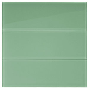 "Sage Glass 4"" x 12"" Subway Tile"