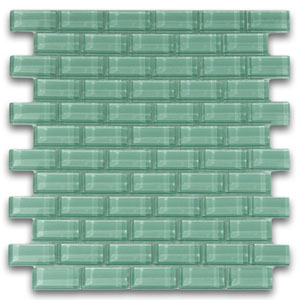 Sage Green 1x2 Mini Glass Subway Tile