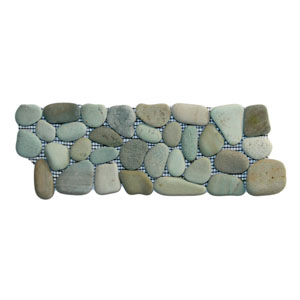 Sea Green Pebble Tile Border