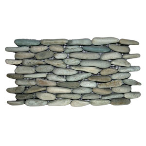 Sea Green Standing Pebble Tile