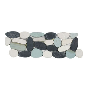 Sliced Bali Turtle Pebble Tile Border