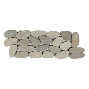 Sliced Java Tan Pebble Tile Border
