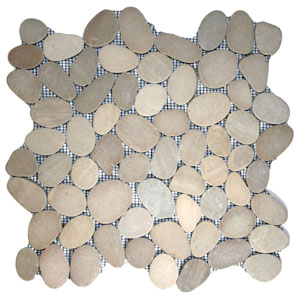 Sliced Java Tan Pebble Tile