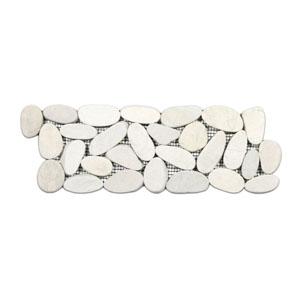 Sliced White Pebble Tile Border
