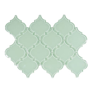 Surf Arabesque Glass Tile