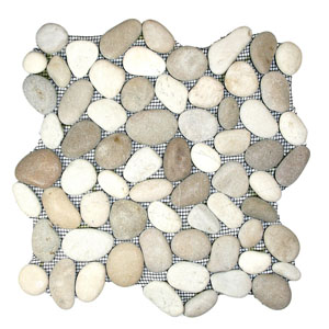 Java Tan and White Pebble Tile